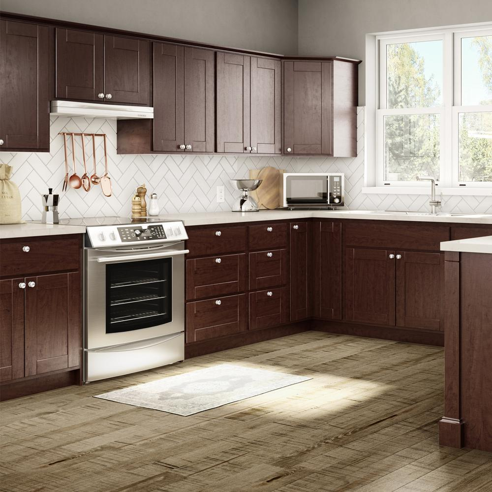 java cabinets kitchen princeton base cabinets in java kitchen the home depot 18011