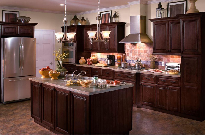 Roxbury Base Cabinets In Manganite Kitchen The Home Depot