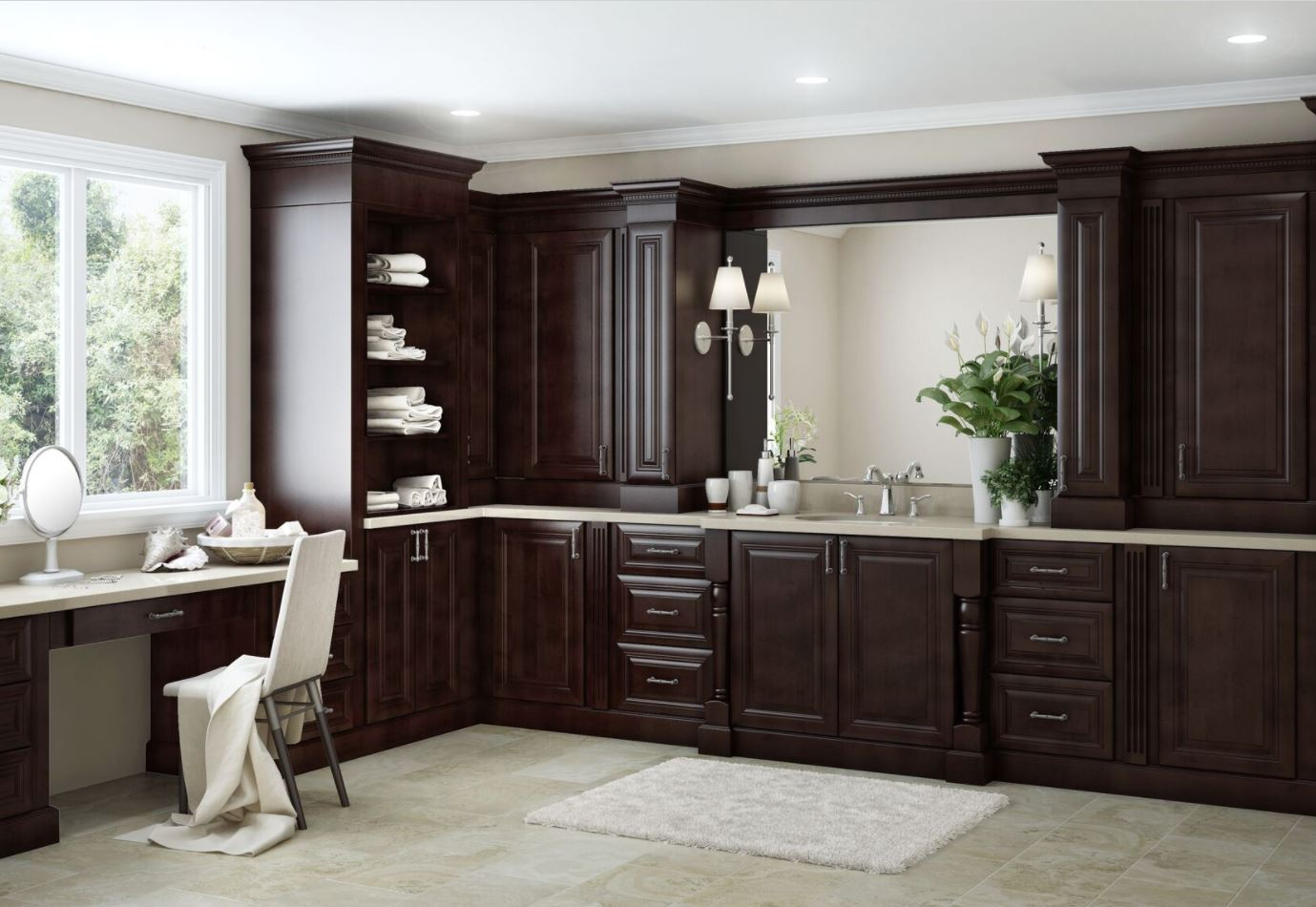 roxbury pantry cabinets in manganite - kitchen - the home