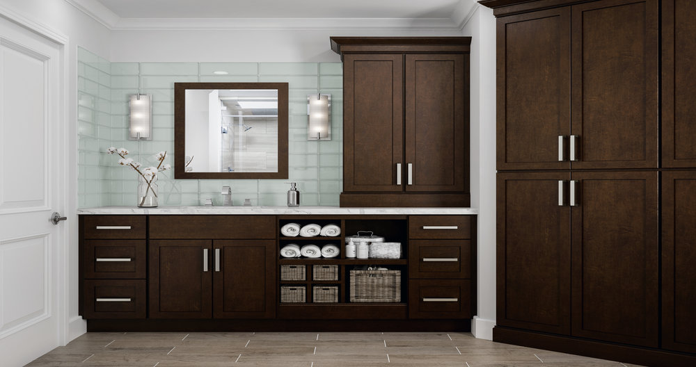 Shaker Cabinets Home Depot: Shaker Specialty Kitchen Cabinets In Java