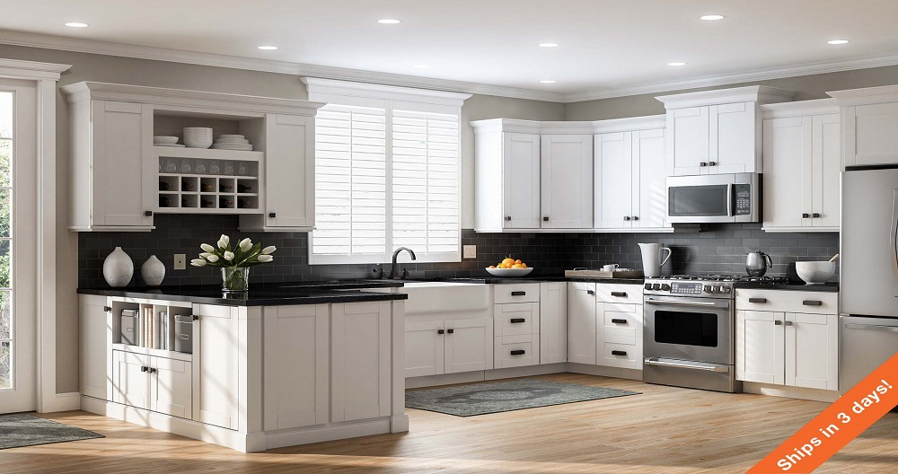 Shaker Wall Cabinets in White – Kitchen – The Home Depot