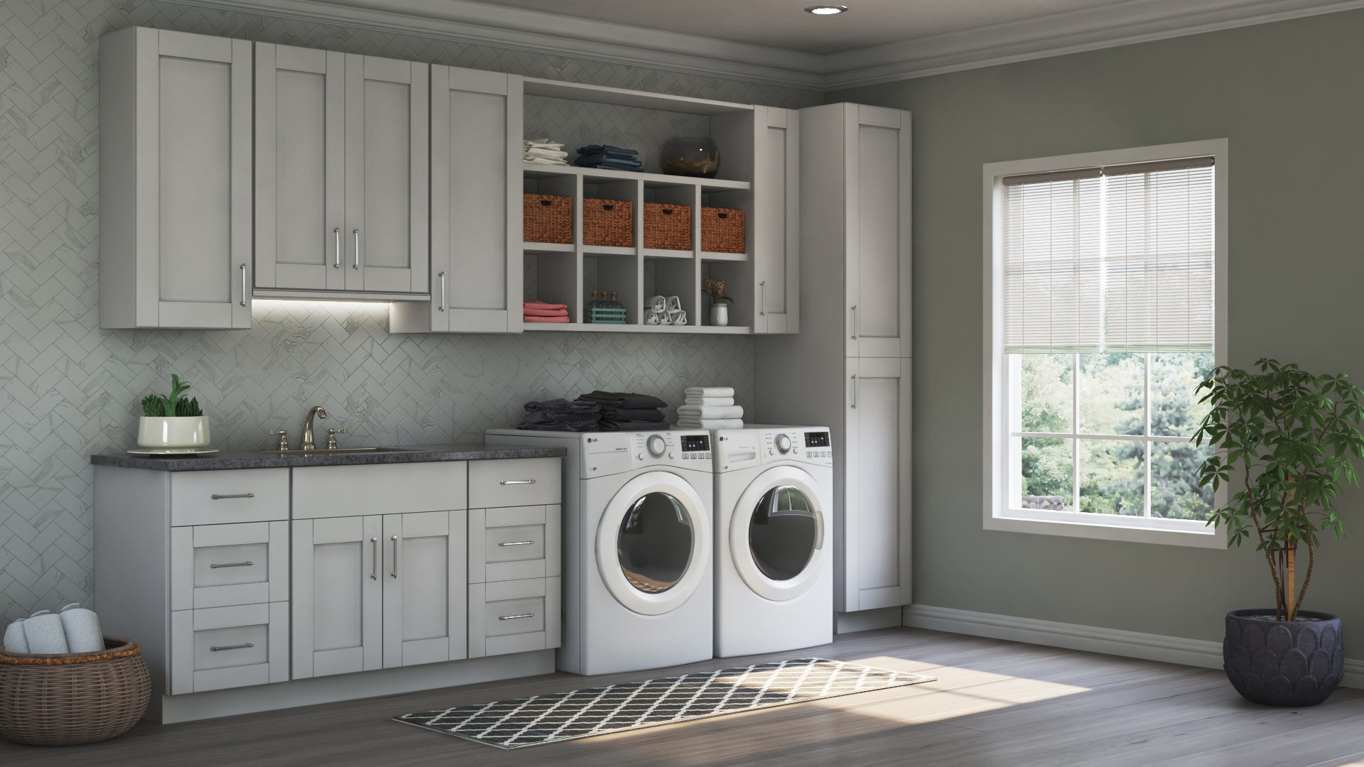 Hampton Bay Shaker Specialty Cabinets In Dove Gray