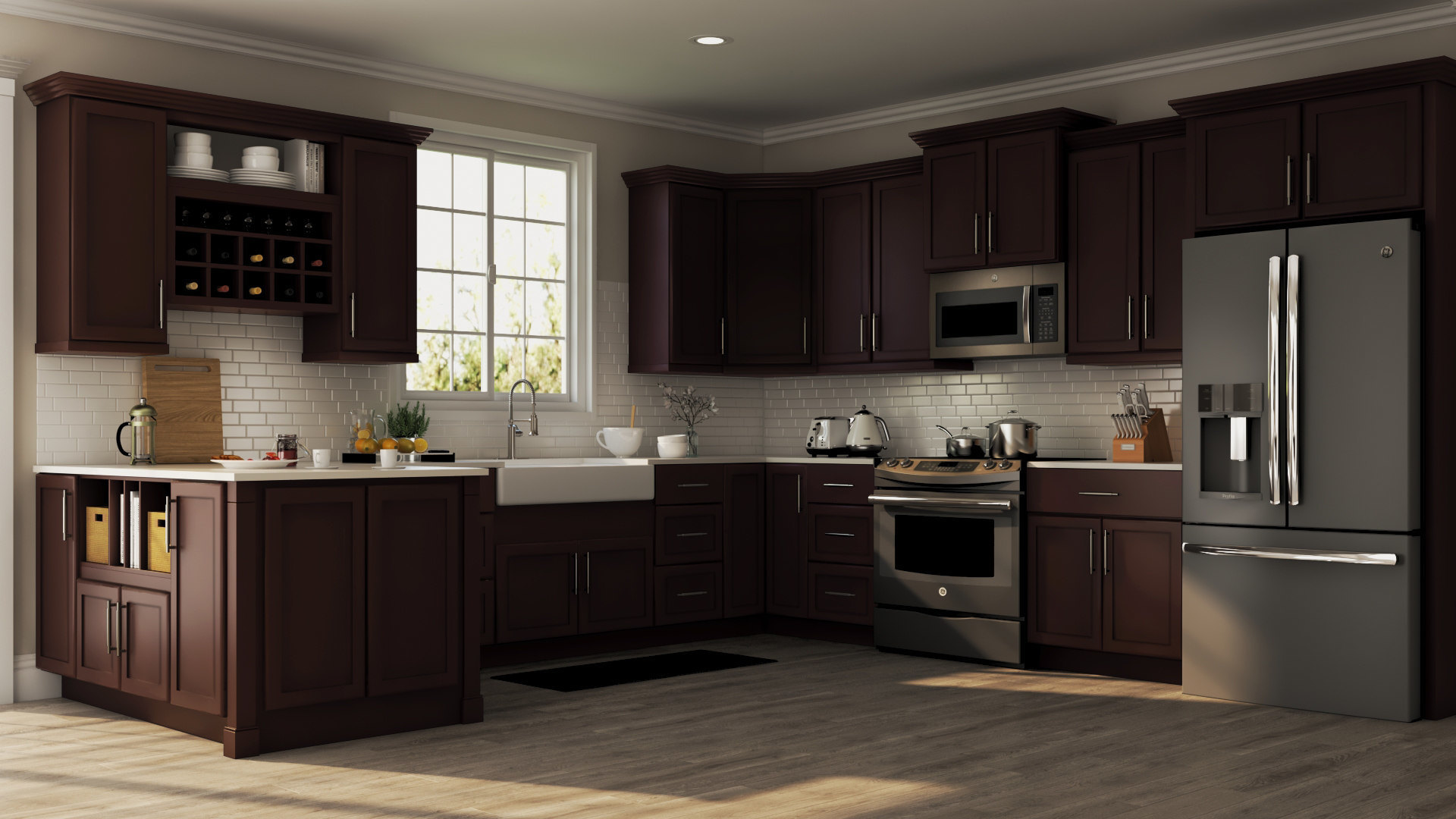 Shaker Java Coordinating Cabinet Hardware Kitchen The