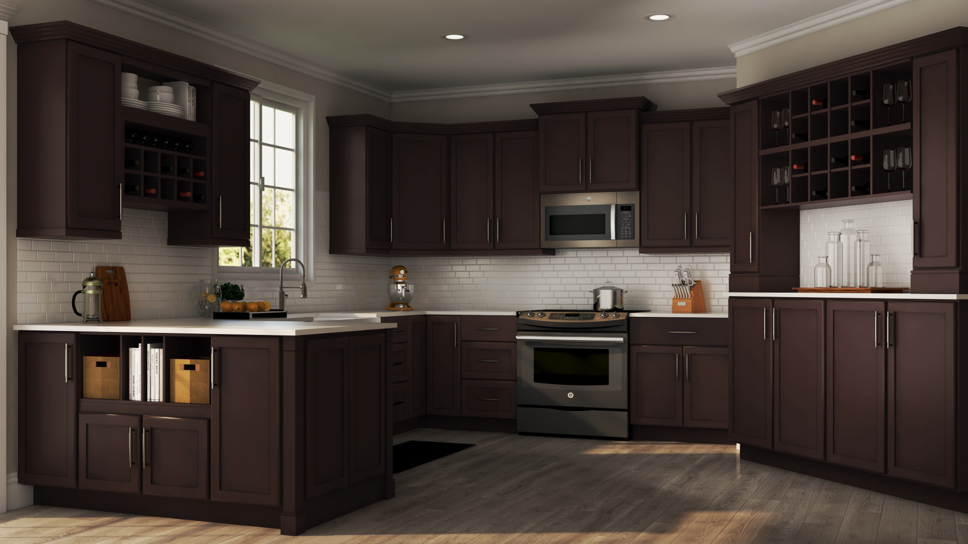 Shaker Specialty Kitchen Cabinets In Java