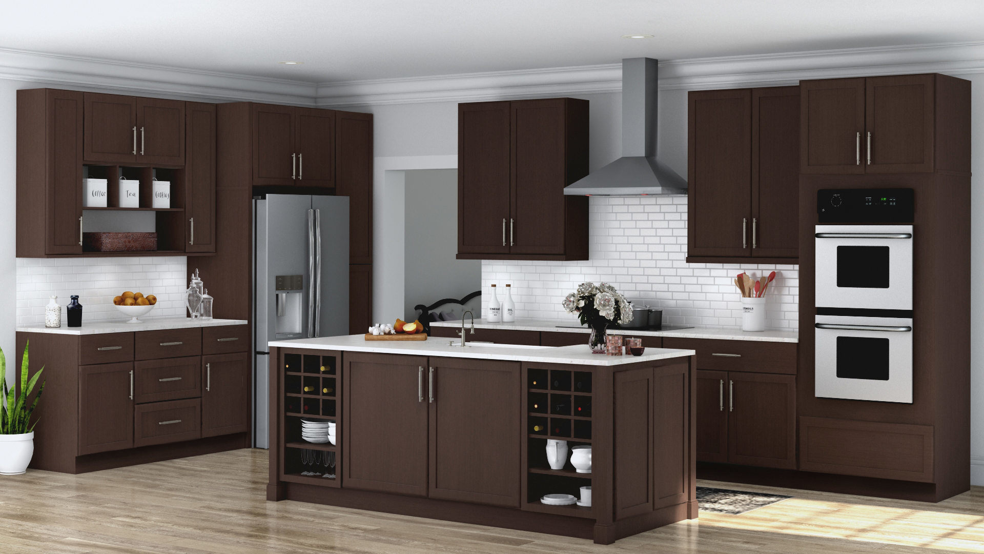 Shaker Specialty Kitchen Cabinets In Java Kitchen The