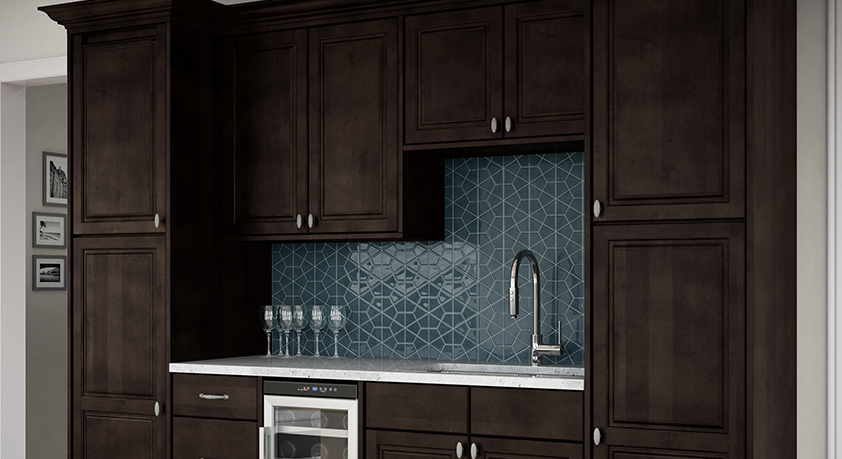 Ancona Base Cabinets In Mocha Kitchen The Home Depot