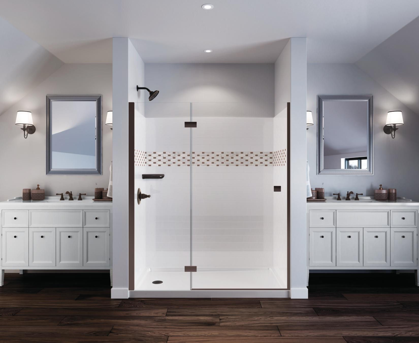 delta depot shower upstile the customizable home bath bathroom collection