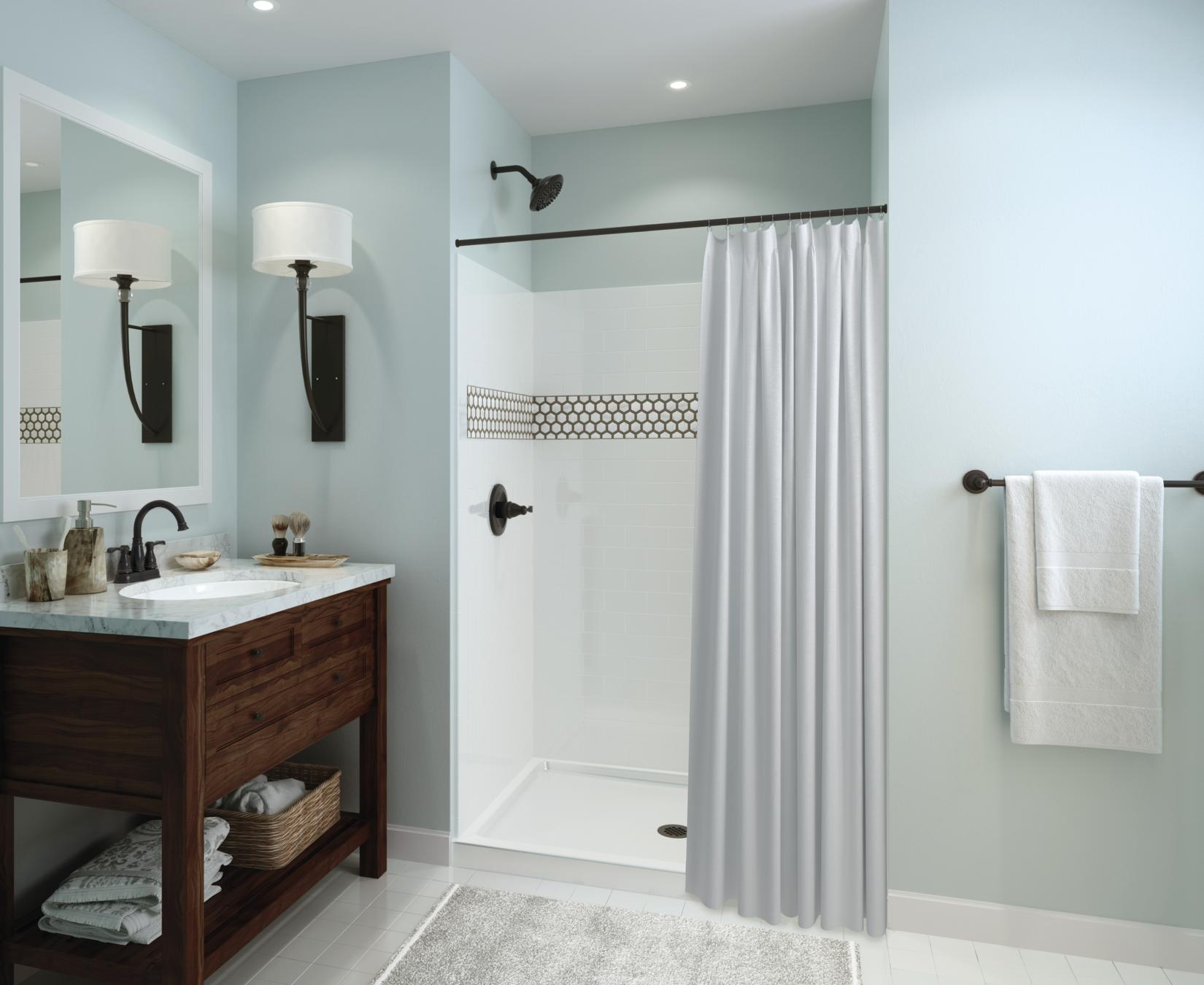crisp of re delta pin bathroom triangle updated the bath curtsey clean