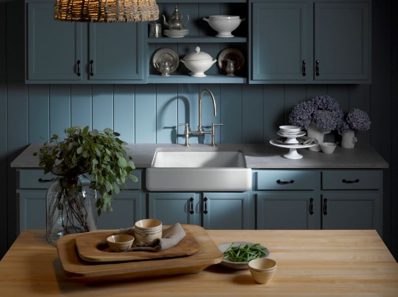 Whitehaven Cast Iron Kitchen Sinks In Ice Grey Kitchen The Home Depot