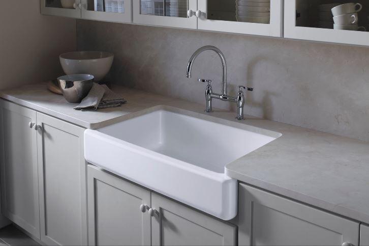 Whitehaven Cast Iron Kitchen Sinks in White – Kitchen – The Home Depot