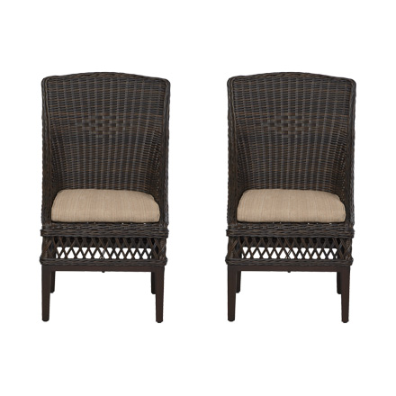 Waverly Garden Room Dining Chair Covers woodbury collection – outdoors – the home depot